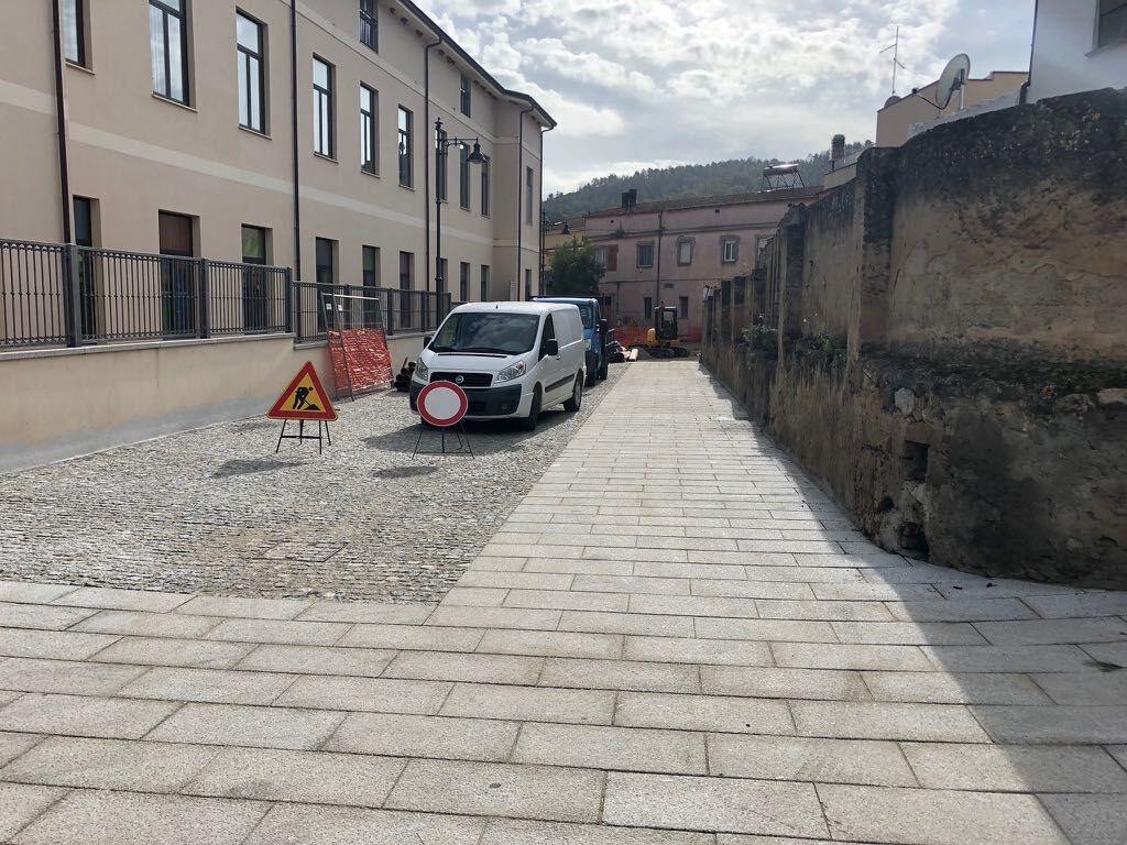 Pavimentazione centro storico Donori